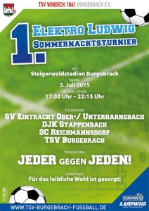 Offizielles Plakat zum 1. ELEKTRO LUDWIG Sommernachtsturnier