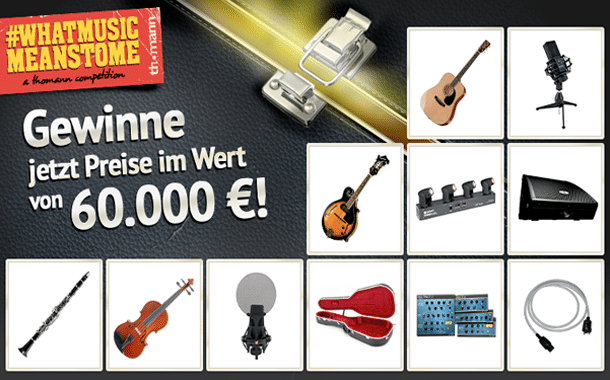 Thomann: Preise satt beim Gewinnspiel #WhatMusicMeansToMe