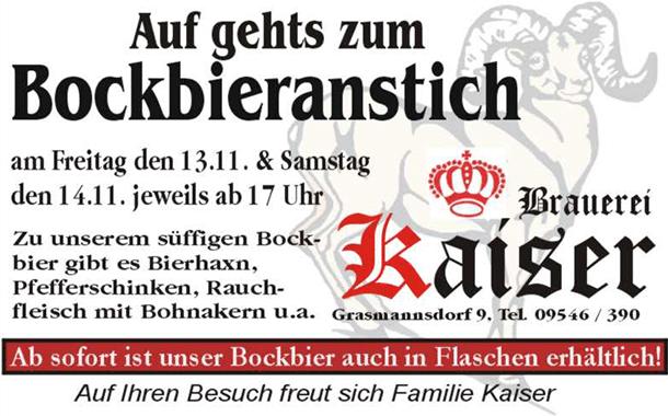 Bockbieranstich 2015 der Brauerei Kaiser