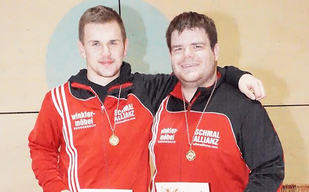 Domi und Jens: Die Bezirksmeister bei den Männern Dominik Winkler (links) und Jens Brosowski.