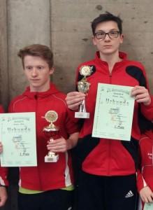 Die Goldmedaillengewinner aus Burgebrach beim Maintalturnier. Von links: Lucas Nein und Daniel Schütz