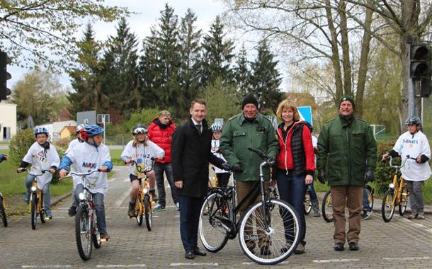 Neues Fahrrad für die Verkehrserziehung in Burgebrach