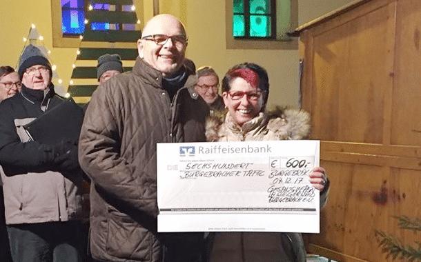 600,- Euro für die Burgebracher Tafel ersungen