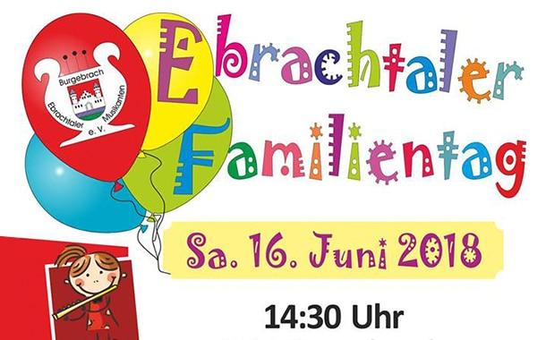 Ebrachtaler Familientag am 16. Juni in Burgebrach