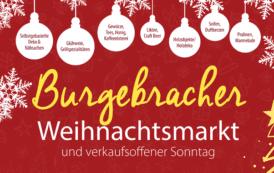 Vorweihnachtlicher Markttag und verkaufsoffener Sonntag in Burgebrach