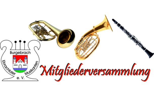 Mitgliederversammlung Ebrachtaler Musikanten