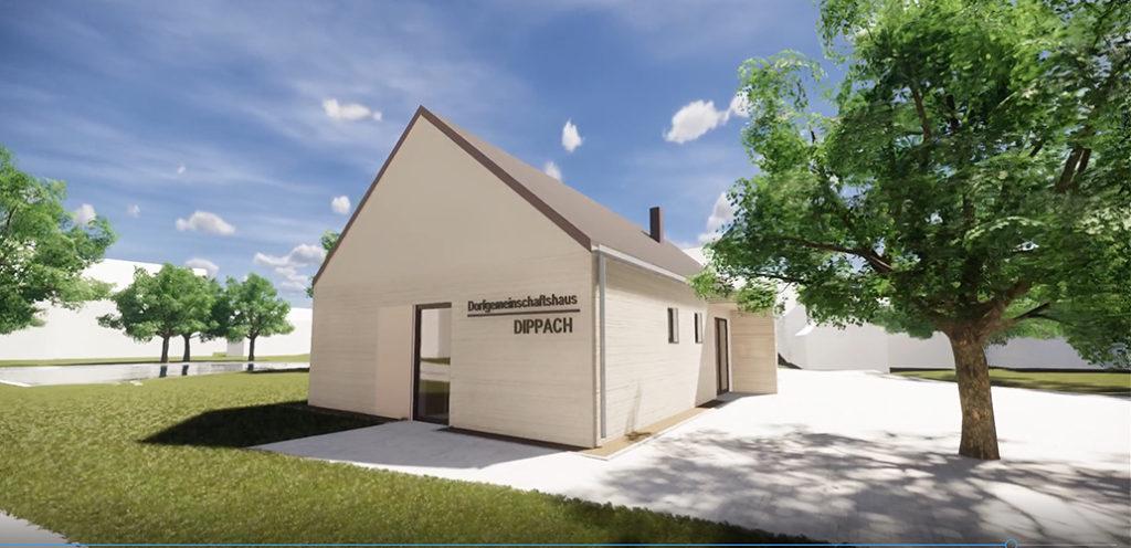 Dippach: Einladung zum offiziellen Spatenstich zum neuen Dorfmeinschaftshauses