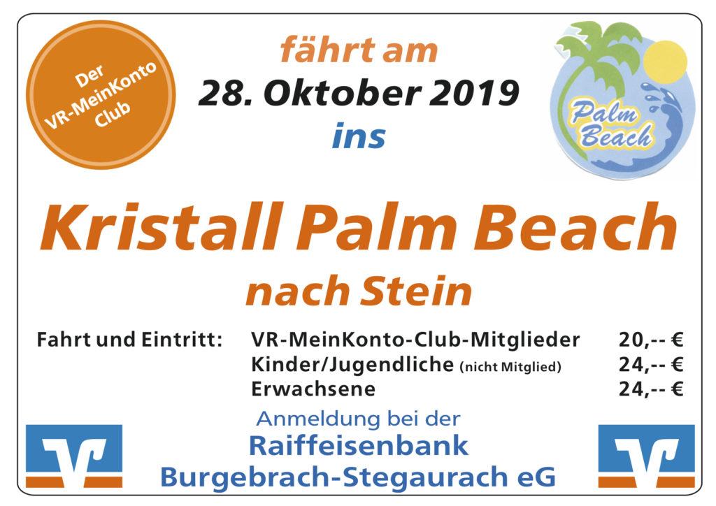 Fahrt mit dem VR-MeinKonto Club ins Kristall Palm Beach!
