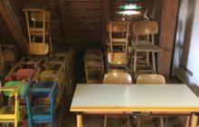 Ausräumaktion in der Burgebracher Grundschule