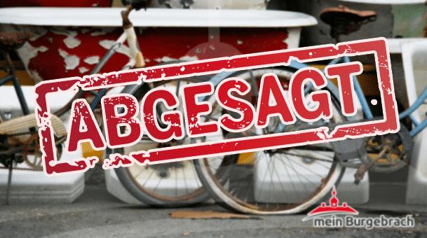 Absage des Flohmarktes in Burgebrach!