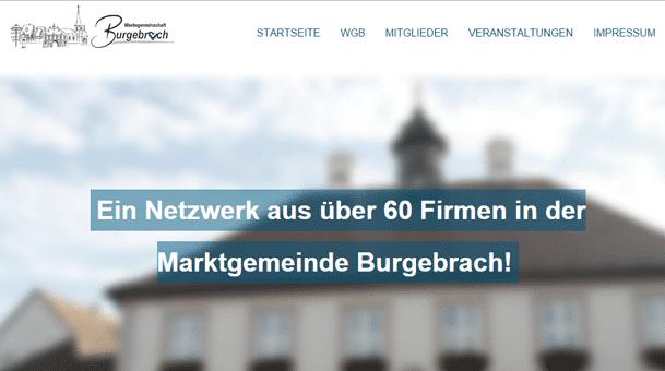 Werbegemeinschaft Burgebrach mit neuer Internetseite